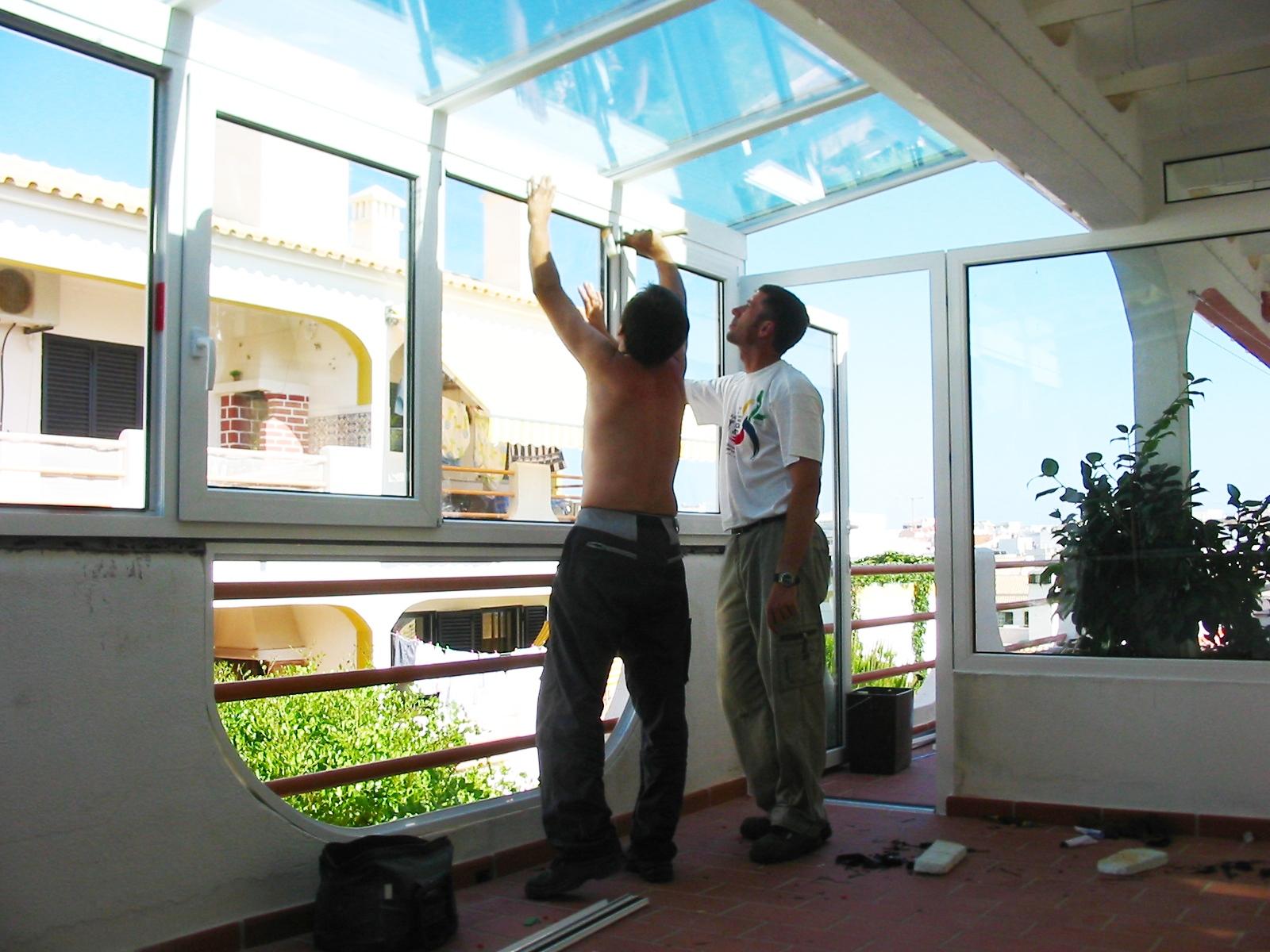 #2988A2 Cobertura no Algarve 03 09 2013 240 Janelas De Vidro Para Terraço