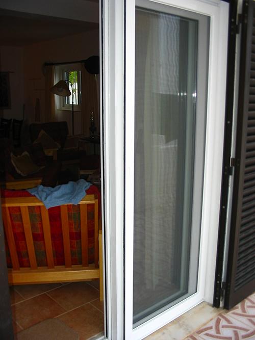 Sliding Door With Mosquito Screen.
