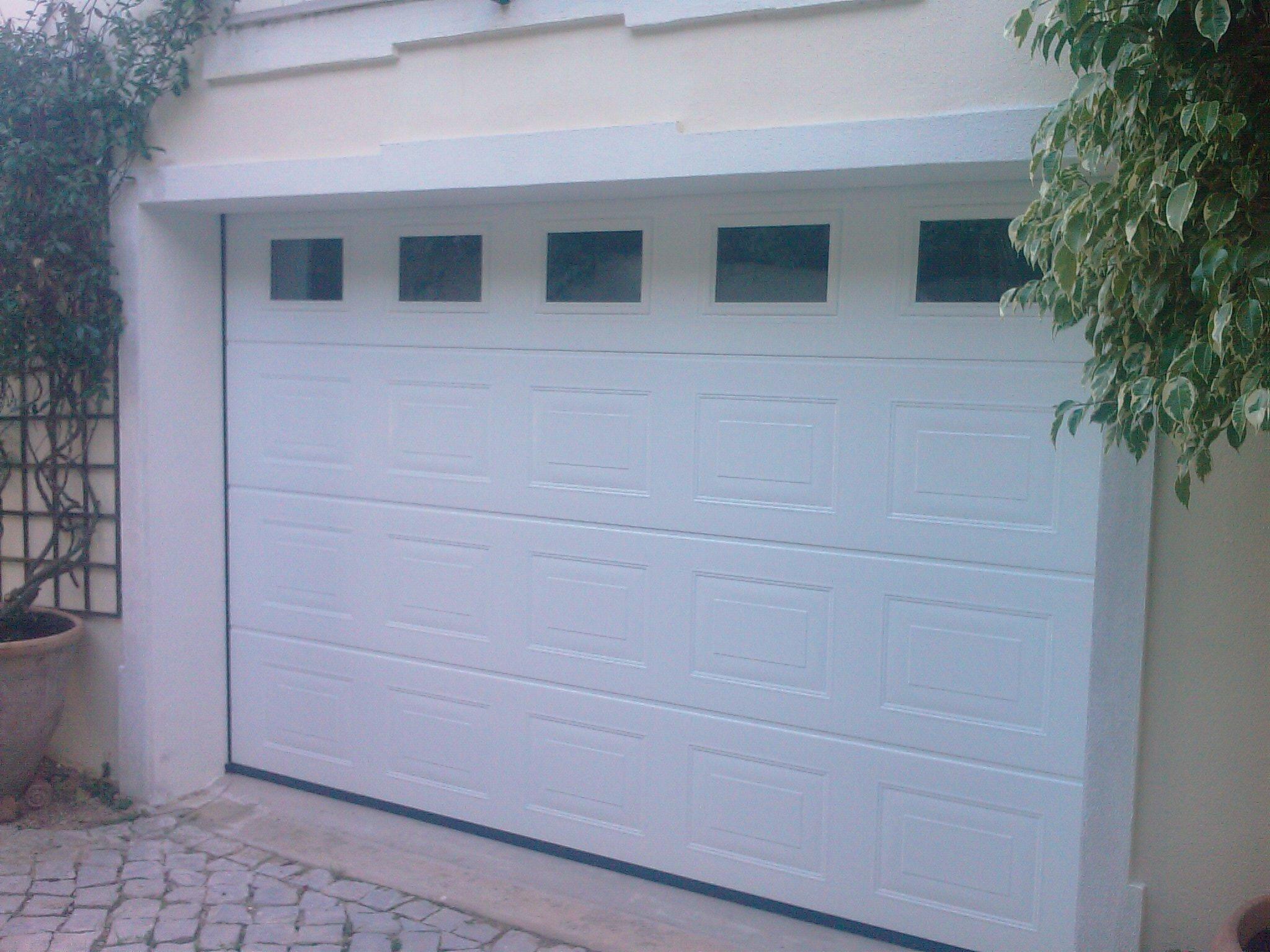 1536 #4B5F80 Garage Door With Fix Windows image Garage Doors Delaware 37432048